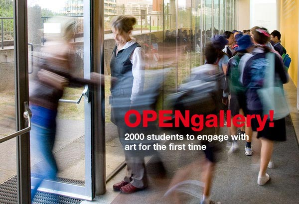 Open Gallery: 2000 students from disadvantaged schools to engage with art for the first time