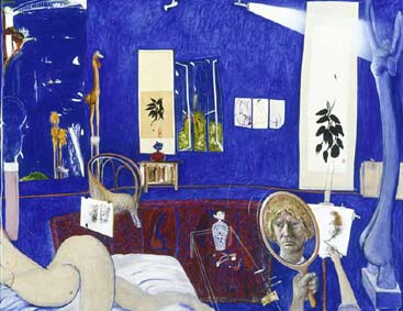 Brett Whiteley, 'Self portrait in the studio', 1976