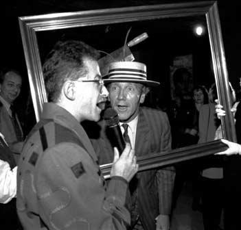 Andrew Denton interviewing Edmund Capon at the opening of Surrealism: Revolution by Night July 1993