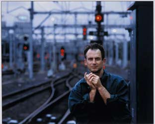 Greg Weight in front of his winning work 'Railroad Blues Jim Conway' 2003