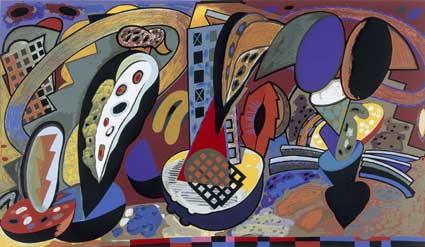 Alun Leach-Jones. City life no.2, 1995