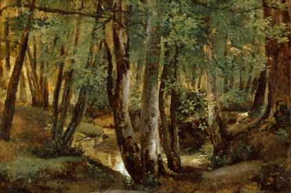 Robert-Leopoid LePrince (1800-1847), Interior of a wood at Pierrefitte