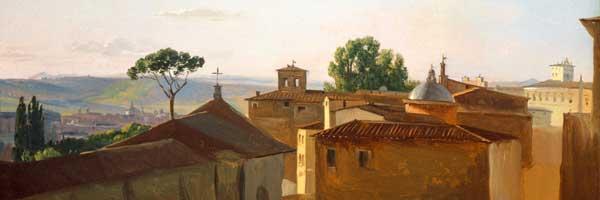 Simon Joseph-Alexander-Cl�ment Denis, View on the Quirinal Hill, Rome (detail).
