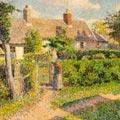 Pissarro Peasants' houses Eragny 1887