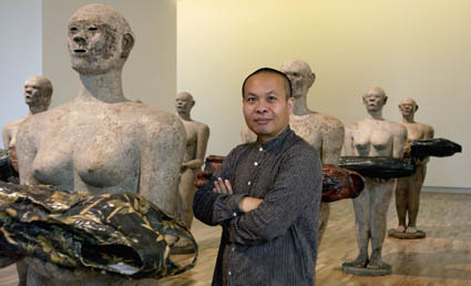 Dadang Christanto with his work They give evidence