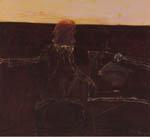 John Olsen 'Self portrait Janus Faced'