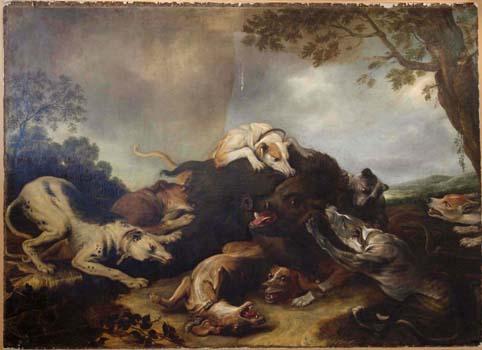 Frans Snyders, The boar hunt c1650s