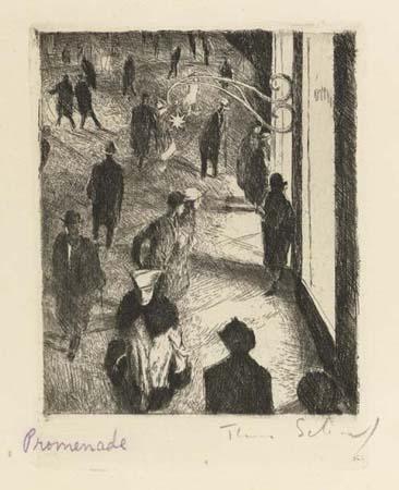 Theo Scharf, <I&gr;Promenade<I&gr; 1923