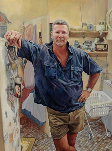 Archibald Prize 06: Winner 2006 Packing Room Prize: Michael Mucci for his portrait of Scott Cam, Art Gallery of NSW